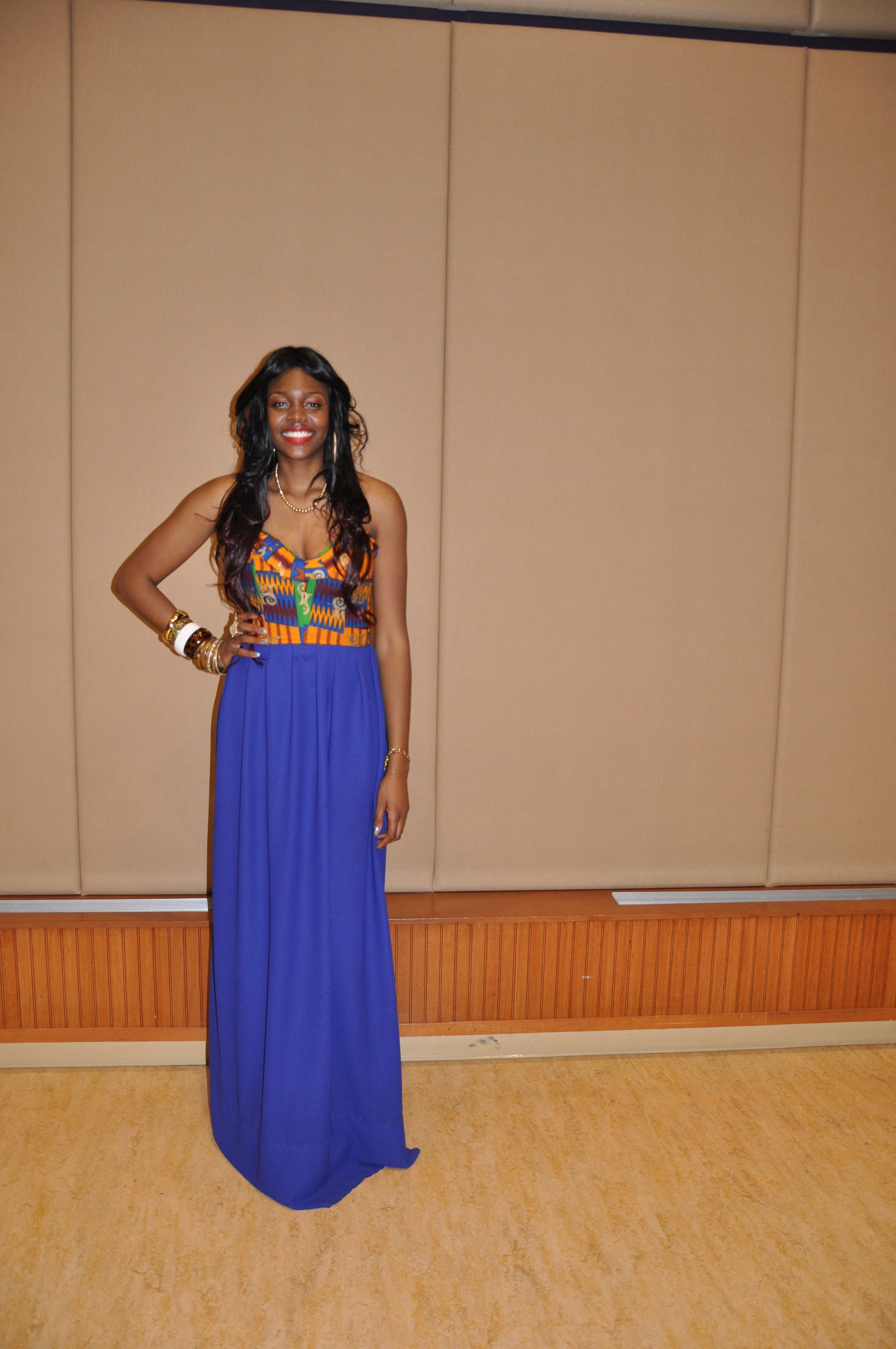 Ankara Print Chiffon Gown for the 2nd Annual Miss Africa PSU 2012 3
