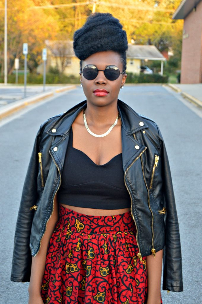 leather-ankara-black-forever-21-leather-jacket-black-croptop-and-red-puksies-wardrobe-aymone-maxi-skirt-for-all-things-ankara-fashion-week-2014-day-1-7