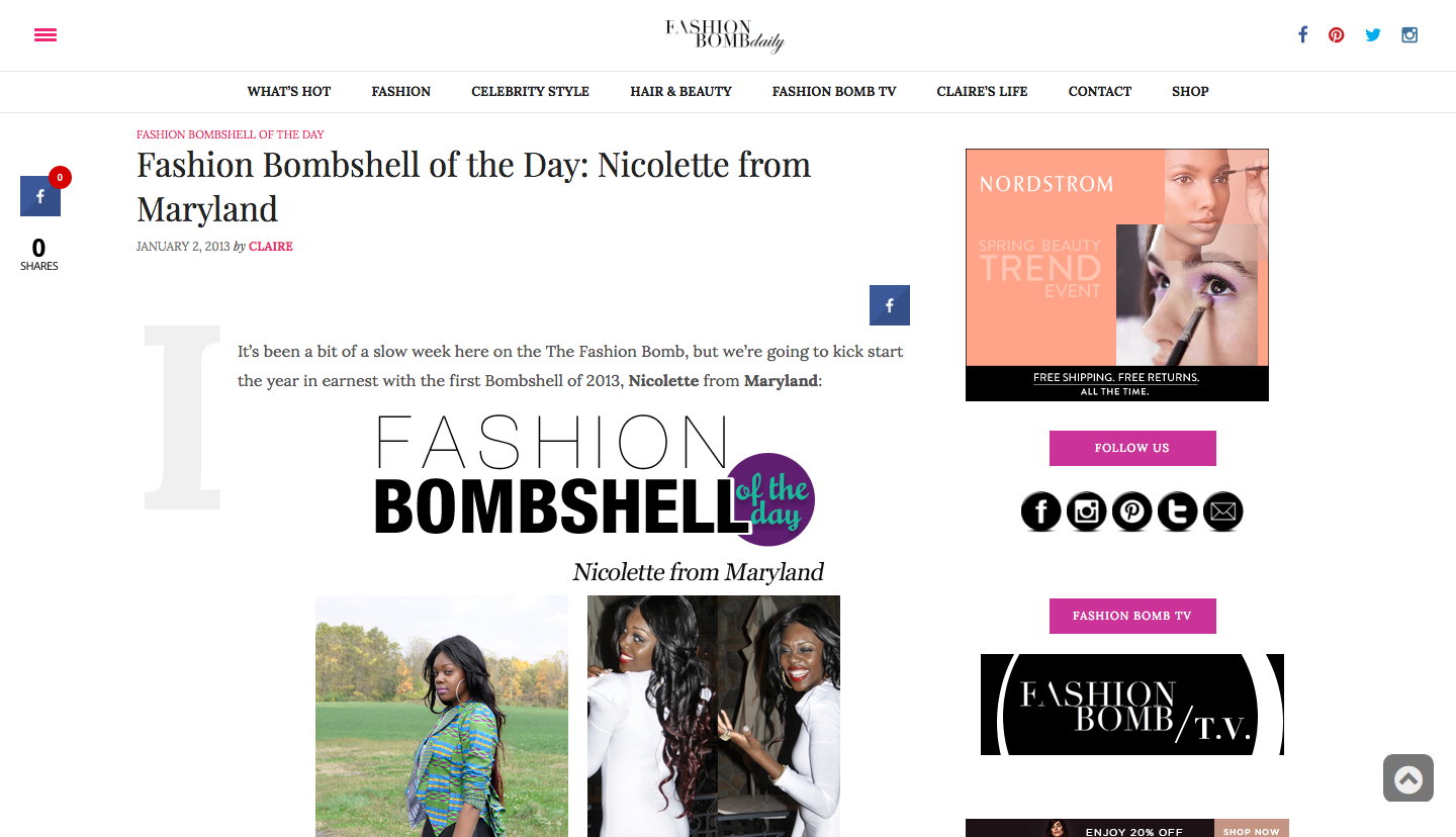 Nikki Billie Jean in Fashion Bomb Daily