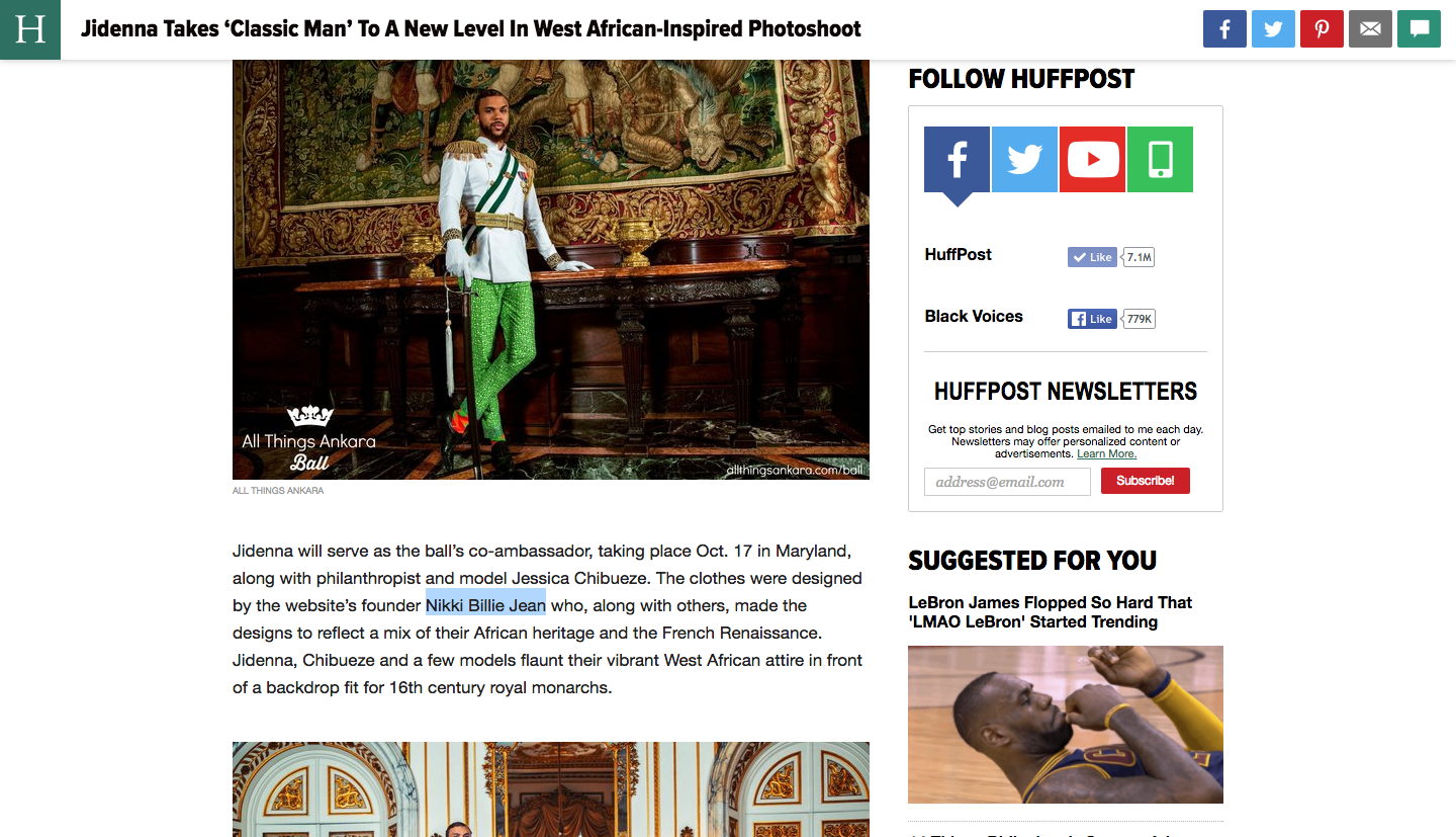 Nikki Billie Jean in Huffington Post