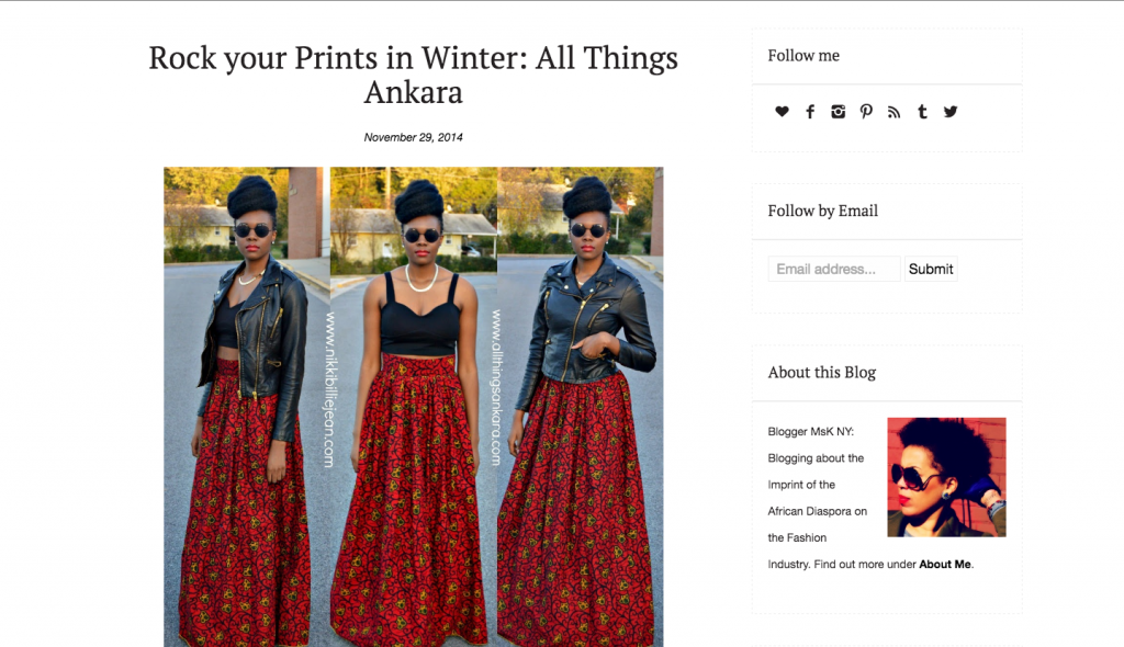 Rock Your Prints in Winter-All Things Ankara