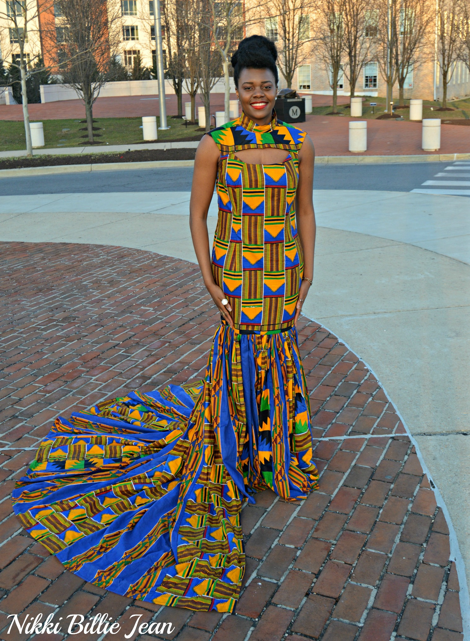 Nikki Billie Jean's Mixed Kente Print Gown for the Exquisite Ghana Independence Ball 2016 1