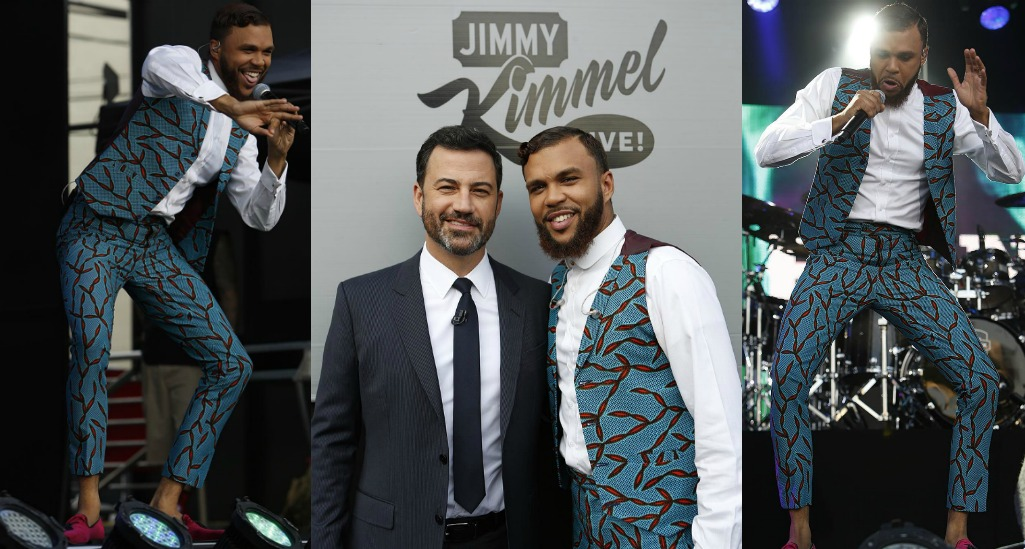 Jidenna Performs on Jimmy Kimmel Live in Nikki Billie Jean