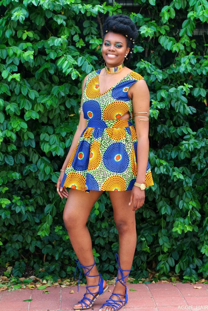 Nikki Billie Jean in LoyWithLove Daisy Dress for All Things Ankara Pop Up 2017 - DMV 4