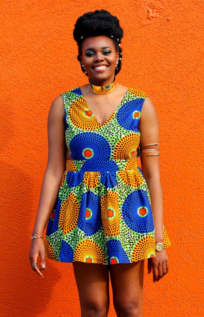 Nikki Billie Jean in LoyWithLove Daisy Dress for All Things Ankara Pop Up 2017 - DMV 9