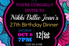 27th Birthday-My Birthday Dinner at 1230 DC in a Nikki Billie Jean Pretty in Pink 2 Piece Suit, Short Sleeve Blazer & Wide Leg Pants 1