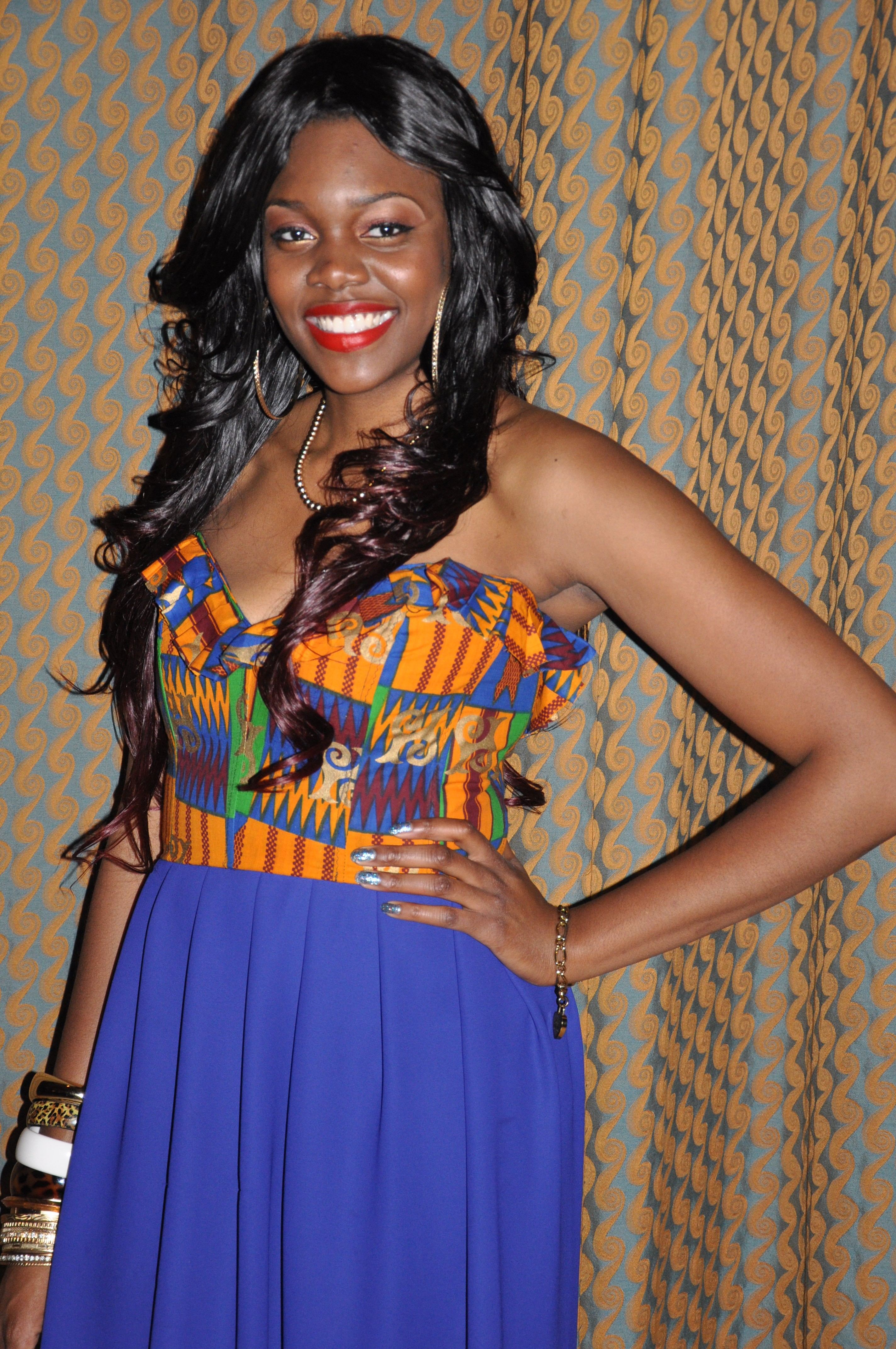 Ankara Print Chiffon Gown for the 2nd Annual Miss Africa PSU 2012 1