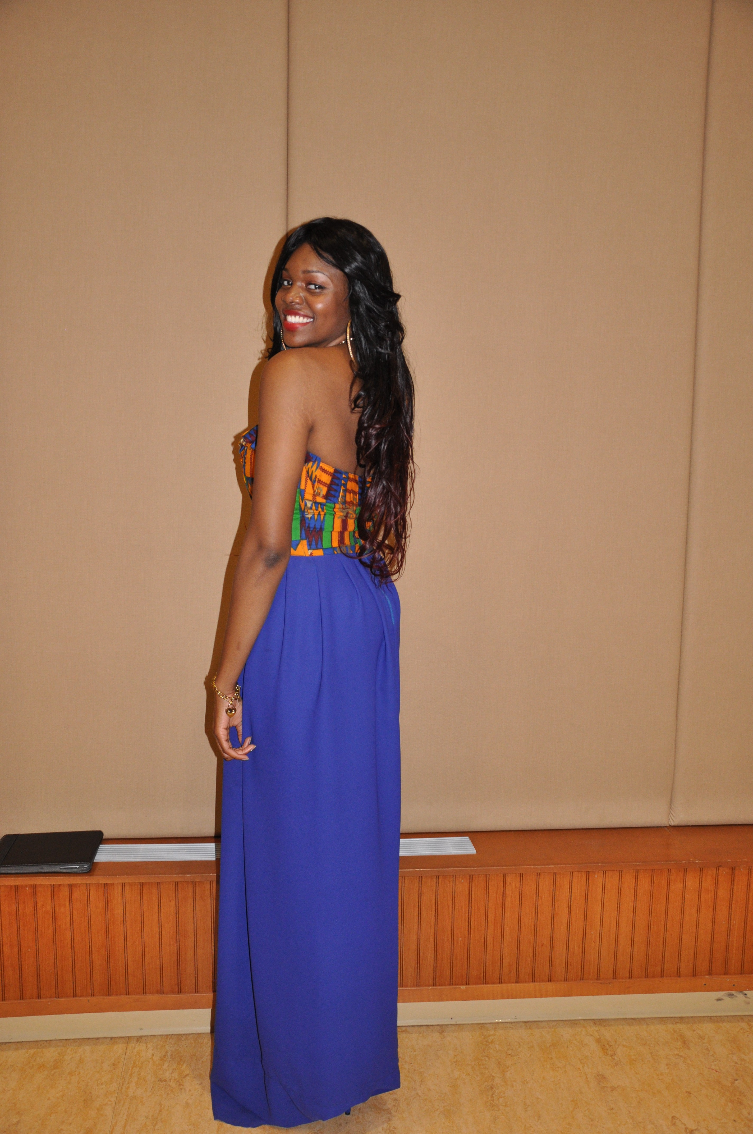 Ankara Print Chiffon Gown for the 2nd Annual Miss Africa PSU 2012 4