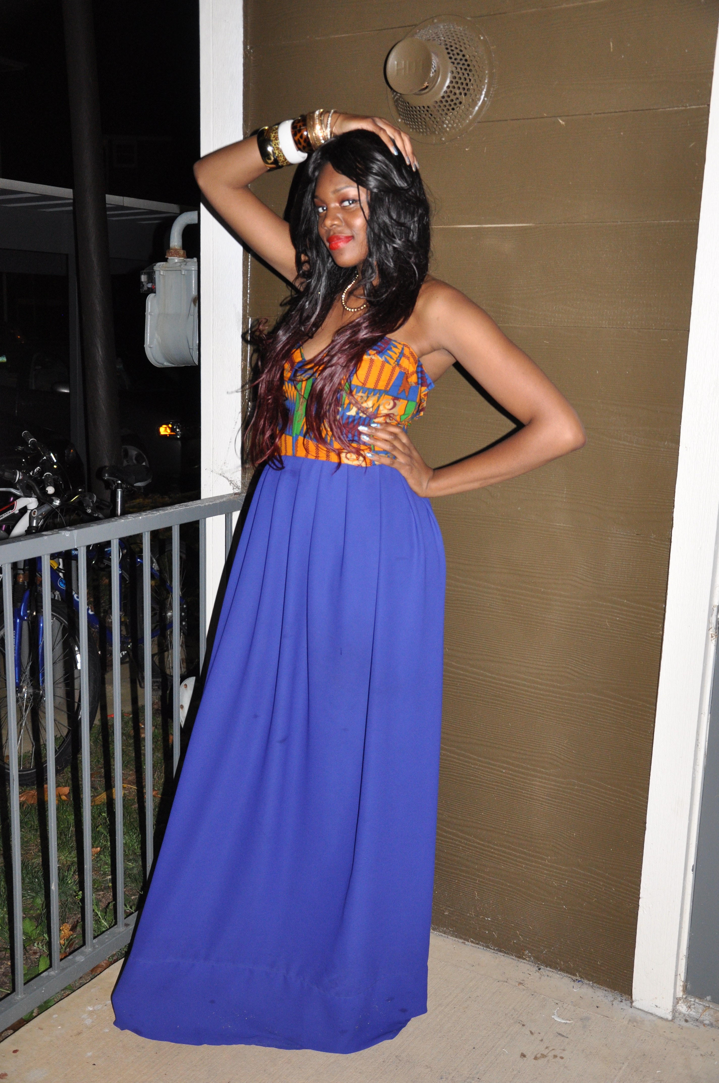 Ankara Print Chiffon Gown for the 2nd Annual Miss Africa PSU 2012 5