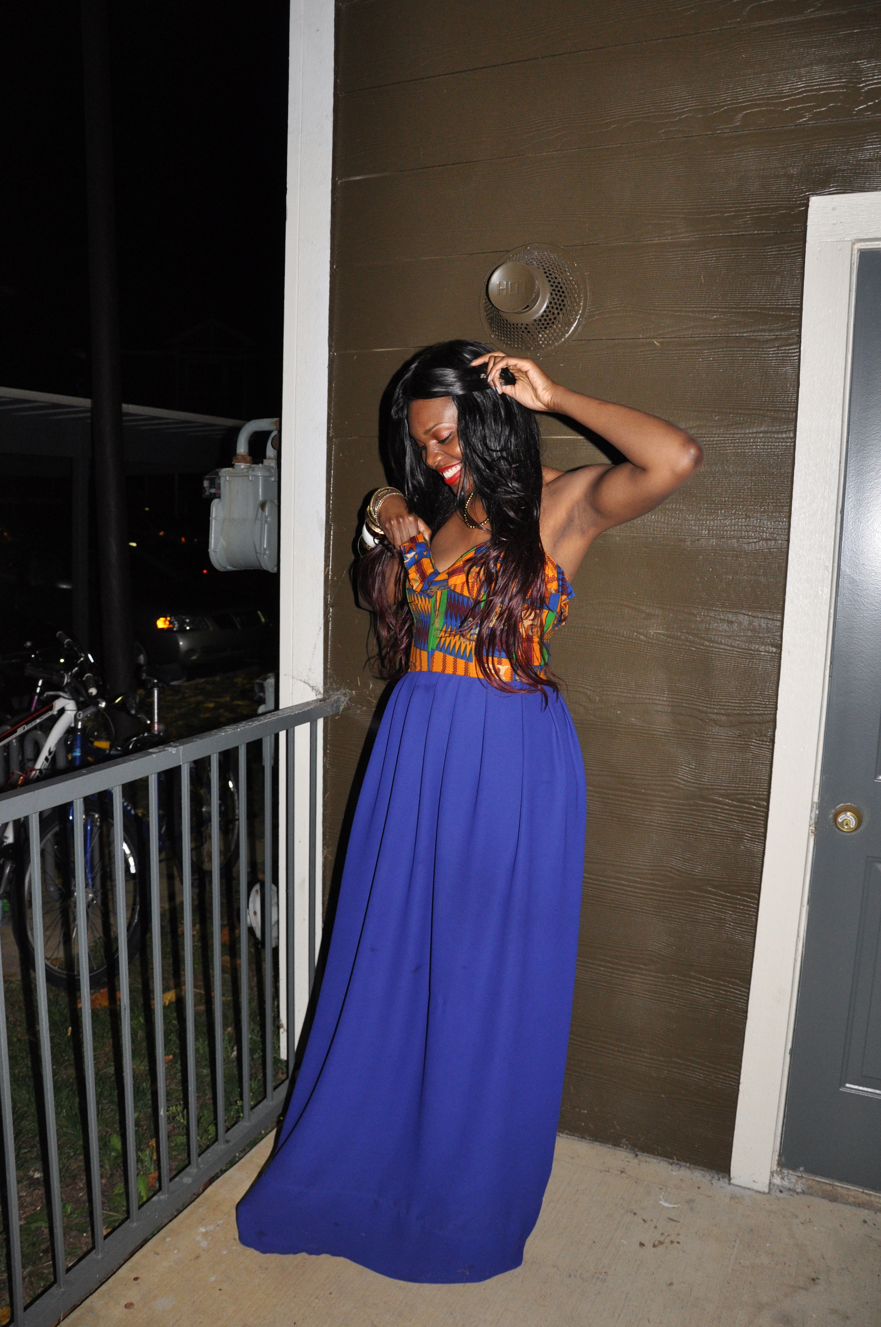 Ankara Print Chiffon Gown for the 2nd Annual Miss Africa PSU 2012 6