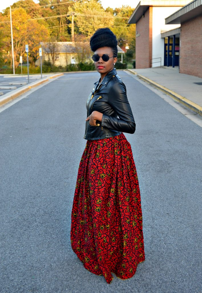 leather-ankara-black-forever-21-leather-jacket-black-croptop-and-red-puksies-wardrobe-aymone-maxi-skirt-for-all-things-ankara-fashion-week-2014-day-1-2