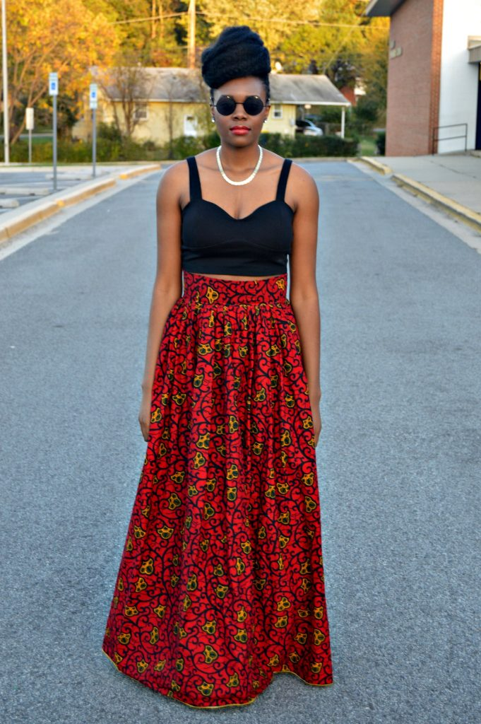 leather-ankara-black-forever-21-leather-jacket-black-croptop-and-red-puksies-wardrobe-aymone-maxi-skirt-for-all-things-ankara-fashion-week-2014-day-1-5