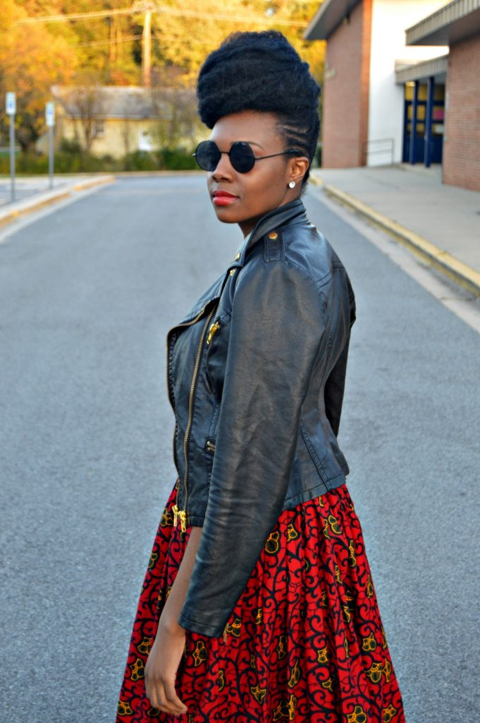 leather-ankara-black-forever-21-leather-jacket-black-croptop-and-red-puksies-wardrobe-aymone-maxi-skirt-for-all-things-ankara-fashion-week-2014-day-1-6