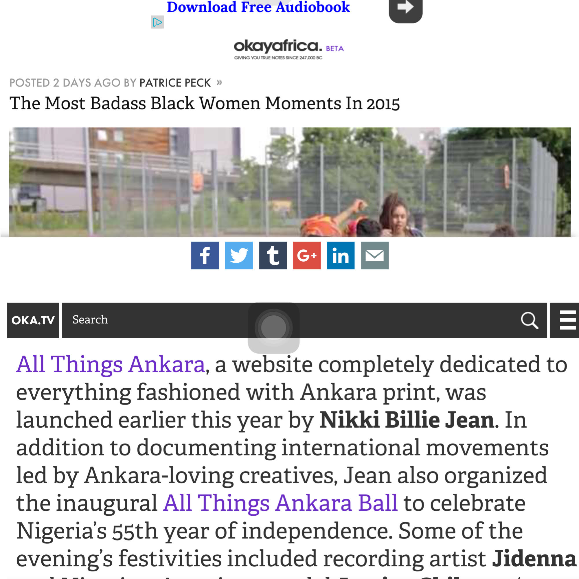 Featured on Okay Africa's The Most Badass Black Women Moments In 2015