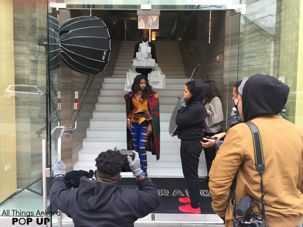 """""""Shopping Like A Boss"""" All Things Ankara Pop Up 2017 Campaign (Behind-The-Scenes) Photo 1"""